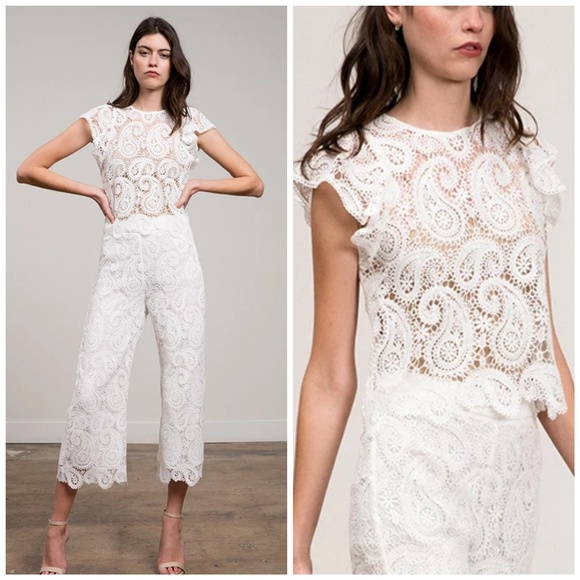 Lucy Paris Tops - LUCY PARIS White Delilah Lace Top Size XSmall